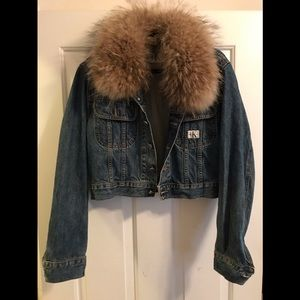 Women's Cropped Calvin Klein Denim Jacket